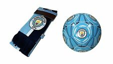 Manchester City F.C. Official Soccer Size 5 Ball & Scarf 07-2