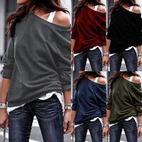 ZANZEA Womens Autumn Long Sleeve Jumper Tops Casual Loose Pullover Sweatshirts