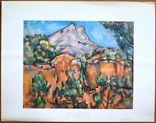Paul Cezanne  Mont St Victoire  Vintage Original 1960 1st Print Ltd Ed Litho