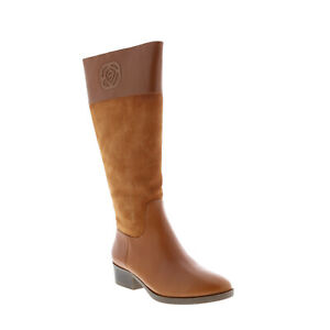Taryn Rose Greir 34TR1352-CAR Womens Brown Leather Casual Dress Boots