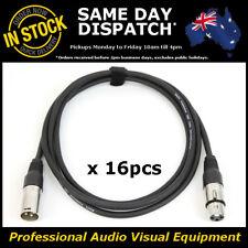 16 x 2M 120 Ohms 3 Pin DMX XLR Lighting Cable Lead Cord Wire 2 Metre DMX-512