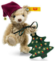 Steiff Christmas 'Nic' Teddy Bear - festive mohair edition - 026782