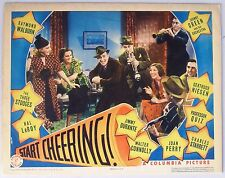 START CHEERING, 1938 Lobby Card. Jimmy Durante, Three Stooges
