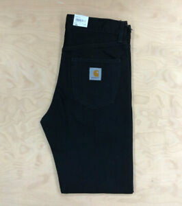 Carhartt Wip Pontiac Pant Jeans Maitland Black Loose relaxed straight fit Denim