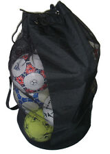 BALL CARRY BAG shoulder strap HOLDS 12 BALLS football soccer netball training