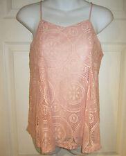 Japna pink lace tank top sz S cami NEW 12685