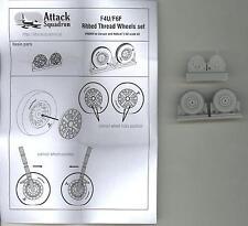 Attack Squadron Models 1/48 F4U & F6F RIBBED THREAD WHEELS Resin Set
