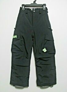 Burton Boys Girls Kids Ski Snowboard Pants Cargo Pockets Insulated Black Size 8