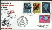St Helena 1965 First Local Post Overprinted FIRST LOCAL POST FDC