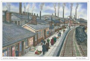 Gorseinon Railway Station, Swansea - Greetings Card - Tony Paultyn