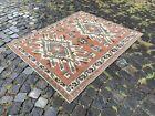 Vintage rug, Turkish, Handmade rug, Area rug, Wool rug, Bohemian | 4,1 x 5,0 ft