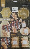Forever Friends Classic Decadence A4 Foiled Decoupage 8pk  'Star' For Cardmaking