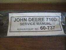 John Deere 710D Backhoe Loader Tractor Operator Repair Service Technical Manual