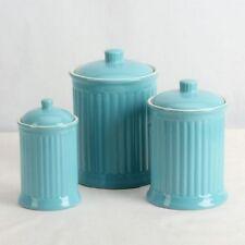 Kitchen Canister Set 3 Piece Ceramic Airtight Lids Home Food Storage Organizer