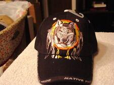WOLF DREAMCATCHER NATIVE PRIDE #3 BASEBALL CAP HAT ( BLACK )