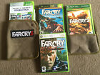 5 XBOX 360 GAMES FARCRY INSTINCTS +PREDATOR +FAR CRY 2 +3 & 4 DOUBLE PACK +EXTRA