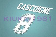 Rangers Gascoigne #8 1995-1996 Homekit Nameset Printing