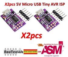 2pcs 5V Micro USB Tiny AVR ISP ATtiny44 ATTiny45 ATTiny85 USBTinyISP Programmer