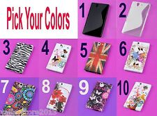 RV 2 Pick Colors Lot Rubberized Case Cover for Sony L36h Xperia Z C6603 L36i