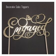 Engaged  Cake Toppers Various Styles and Colours Aus Seller