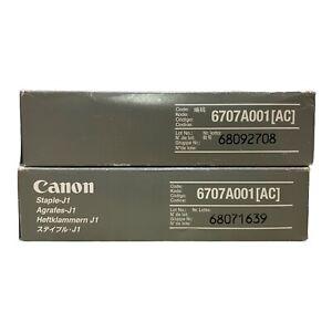 2 x Boxes Canon Staple J1 6707A001[AC] Staple Cartridge Refill x3 Per Box