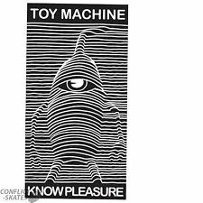 "TOY MACHINE ""Know Pleasure"" Skateboard Sticker 15cm x 8cm Snowboard Joy Division"