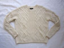 TOPSHOP Chunky Cable Knit Jumper Cream Oat Sweater - US Size 0