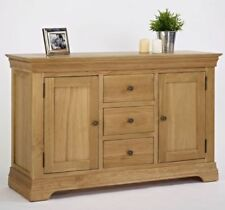 Wooden Brown Sideboards, Buffets & Trolleys with 3 Drawers