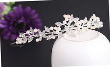 Accessori per capelli da sposa  di cristallo Tiara Corona capelli perla fascia