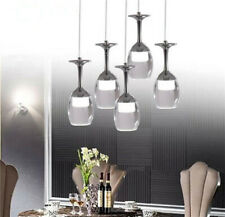 Modern Wine Glass Ceiling LED Light Kitchen Bar Pendant Lamp Bar Lighting