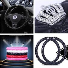 Black Color Car Steering Wheel Cover PU Leather 38CM Fashion Women Car Accessory