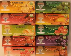 "10 Packs Hornet 1.25"" Flavoured Rolling Papers. 50 Leaves Per Pack. USA Seller"