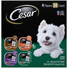 Cesar Gourmet Wet Dog Food Variety Packs – 24 Trays Chicken