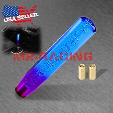 Shift Knob Stick Crystal Transparent Bubble Purple Blue Throw Gear Shifter 25cm