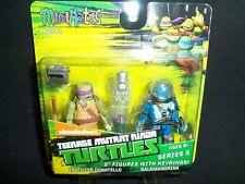"Minimates TMNT Inventor Donatello & Salamadrian 2"" Action Figure w/ Keyrings"
