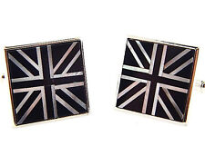 Brand New Sterling Silver Onyx and Mother of Pearl Cufflinks