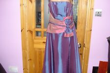 Dress for special occasions in Grape/Wild Rose  by Hilary Morgan - size 12