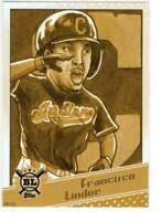 Francisco Lindor 2020 Topps Big League Star Caricature Reproductions 5x7 Gold #S