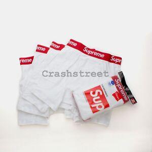 Supreme Hanes Boxer Briefs Pack (Pack of 4) Box Logo underwear