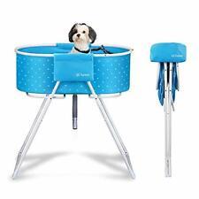 New ListingElevated Folding Dog Bath Tub and Wash Station for Bathing, Shower, blue