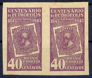 BRASILIEN 1943 100-Jahr-Feier der Stadt Petropolis 40C violett ABARTEN UNGEZÄHNT