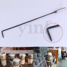 20'' Long Iron Fire Poker Open Hook Pit Fireside Fireplace Coal Stove Tool