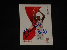 GLEN RICE 1991-92 SKYBOX SIGNED AUTOGRAPHED CARD #151 MIAMI HEAT