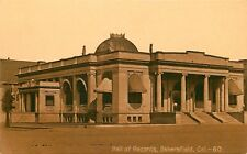 C1910 Mitchell Sepia Postcard 60 Hall of Records Bakersfield CA Kern County