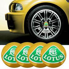 4pc 56mm 3D Yellow Alloy Logo Emblem Wheel Center Cap Sticker for Lotus L3 L5 L6