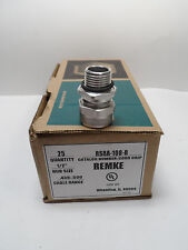 REMKE RSR A-108-R BOX OF 25 - SINGLE CONDUCTOR CORD GRIP, STRAIGHT, HUB, NEW