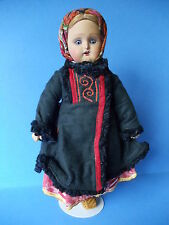 Antique Russian Terra Cotta Doll in Regional Costume All Original