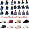 Synthetic Baseball Cap Hair Yaki Curly Detachable Hatswith Wigs Free Combination