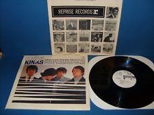 "THE KINKS ""KINDA KINKS"" REPRISE-6173 MONO LP WLP PROMO 1965 1st USA PRESS"