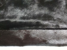 2 pcs  HAIR ON  BLACK & BROWN   MINIATURE GOAT HIDES PELT   -A1